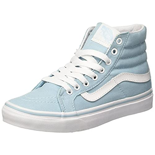 2981cdbfe0 Vans Womens SK8-Hi Slim Skate Shoes Crystal Blue True White (9 Women s