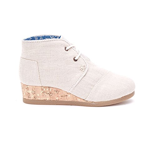 Youth Natural (Toms Natural Linen Youth Desert Wedges)