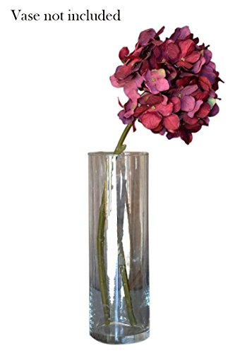 Cheap  Burgundy Red Faux Silk Hydrangea Spray Pick Bouquet - Dark Red Flower..