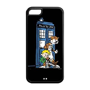 Calvin And Hobbes Theme iphone 5c Case (TPU Material) White/Black iphone 5c Accessories Cover by mcsharks