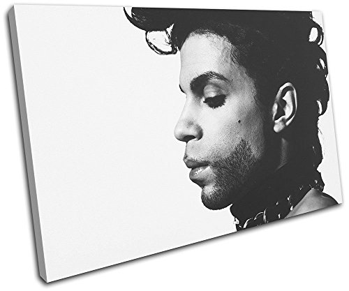 Bold Bloc Design - Prince Singer Iconic Celebrities 90x60cm SINGLE Canvas Art Print Box Framed Picture Wall Hanging - Hand Made In The UK - Framed And Ready To Hang by Bold Bloc Design