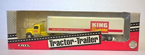 Vintage 1993 Ertl King Soopers Tractor Trailer Yellow Day Cab 11