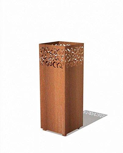Feuersäule von Burni für den Garten aus rostfreien Cortenstahl rostoptik