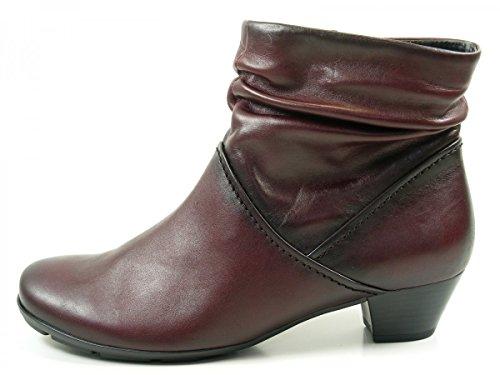 Gabor 55-637 Comfort Shoes - Botines de cuero mujer Rot