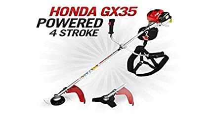 CHIKURA Lawn Mower 2 in 1 Brush Cutter with Gx35 Engine 4 Strokes Whipper  Snipper Trimmer Tree Pruner