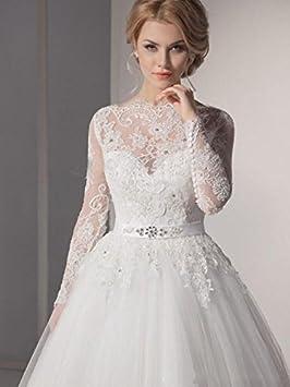 HAPPYMOOD Vestido de novia Vestido de boda Mujer Largo Vestidos de noche Banquete novia Fiesta elegante