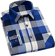2021 Long Sleeve Collar Long Button Down Plaid Shirt Blouse Tops