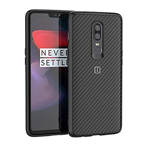 new style 88a62 c3d3e Nik case Back case for OnePlus 6 case, oneplus 6 Cover (Carbon Texture &  Side Soft Flexible & Slim) for one Plus 6 (Carbon Black)