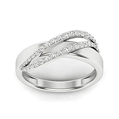 2d8596eb2 Buy 0.28Ct Round Cut Diamond Ring in 14K White Gold Over Online at ...