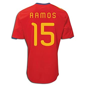 on sale 974db d5090 Amazon.com: Adidas RAMOS #15 Spain Home Jersey World Cup ...