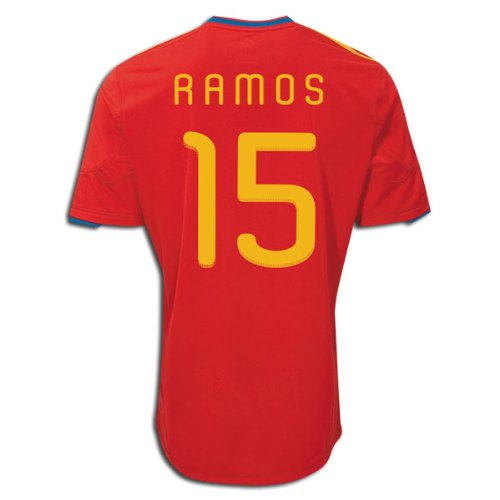 World Soccer Cup 2010 - Adidas RAMOS #15 Spain Home Jersey World Cup 2010 (XL)