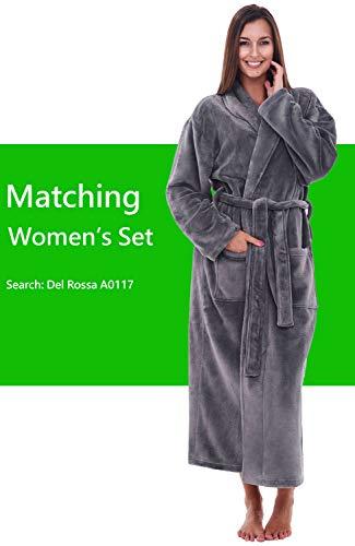 3b3d9ea734 Jual Alexander Del Rossa Mens Solid Color Fleece Robe