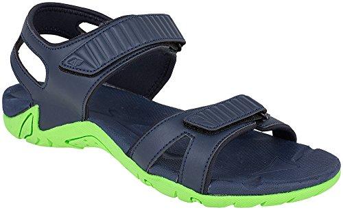 Trekkingsandalen 4F bequeme Outdoorsandalen für Herren Sandalen mit Klettverschluss Sport & Outdoor Schuhe für Freizeit Sommer SAM001 SS17 Blau
