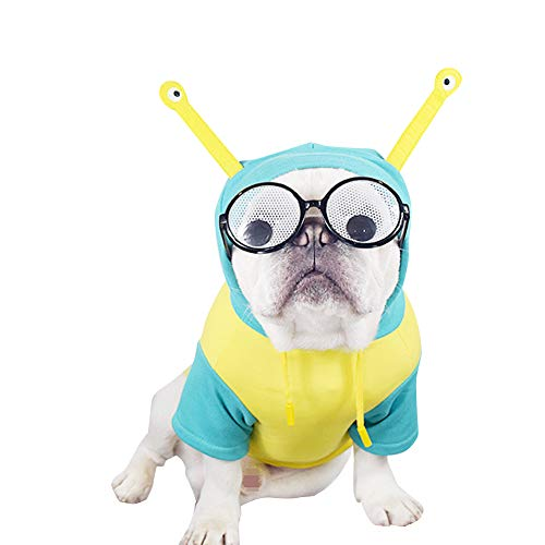 Bichon Frise Halloween Costumes (CT COUTUDI Alien Dog Costume Puppy Funny Hoodie Shirt for French Bulldog Pug Bichon Frisé Standard Schnauzer Poodle)