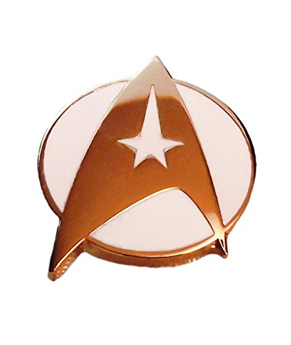 Star Trek Classic Movie White COMMAND Logo Metal PIN (Star Trek 7 Of 9 Costume)