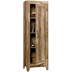 Sauder 418137, Furniture Adept Craftsman Oak Narrow Storage Cabinet