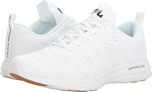 APL: Athletic Propulsion Labs Women's Techloom Pro Sneakers, White/Black/Gum, 9 B(M) US