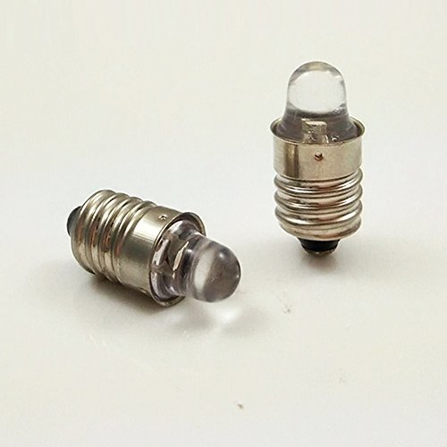 E10 3VDC 1A Miniature Screw Base Light Bulb Lamp Flashlight Torch DIY Work Light (5Pcs 6000K + 5Pcs 4300K)