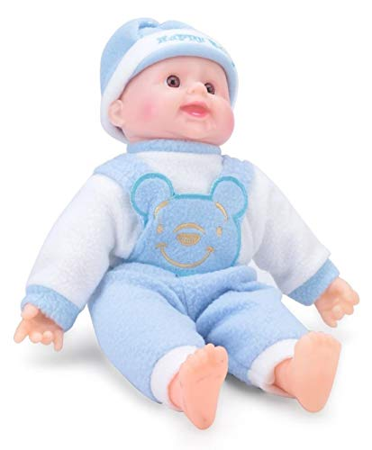 Cuddles collections Happy Baby Laughing Musical And Doll  Small, Blue