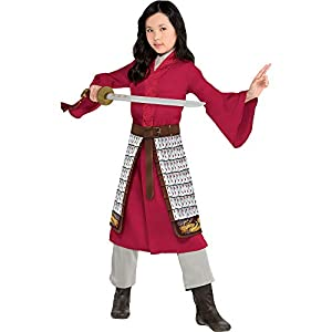 Party City Disney Live Action Mulan Halloween Costume for Toddlers, Includes Dress, Pants and Skirt, Pretend Play
