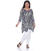 White Mark Trendy Plus Size Top Antonia Cut Out Shoulder Tunic Shirt