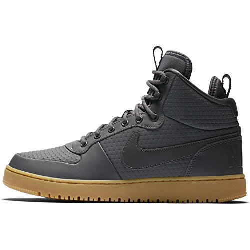 Court Basketball NIKE Winter Grey Hyper Crimson Shoes Dark Borough Mid Mens nF6X5xH6g