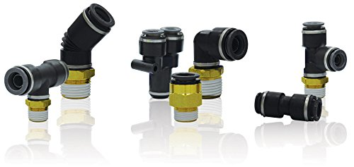 SMC KV2L07-35S connectors - kv2 fitting family kv2 1/4 - fitting, male elbow - package of 10 (35s Male Elbow)