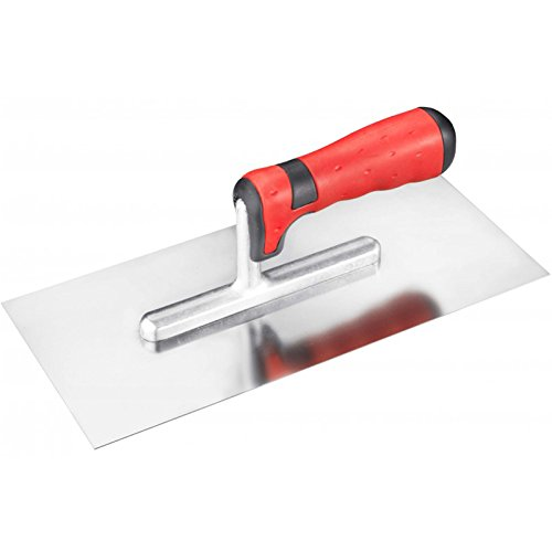 Connex COX781242 Smoothing Trowel Rustproof with 2C-Handle, Silver/Black/Red, 280 x 130 mm Conmetall