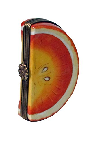 Hand painted Collectible Limoges box Orange Slice
