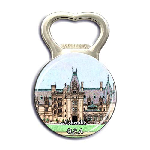 Biltmore Asheville USA America Refrigerator Fridge Magnets Bottle Opener Crystal Glass Strong Magnet Stickers City Tourist Souvenirs Gifts Kitchen Whiteboard