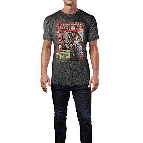 SINUS ART® Psychoanalysis Herren T-Shirts stilvolles dunkelgraues Cooles Fun Shirt mit tollen Aufdruck