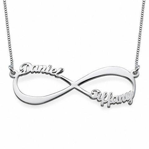 Bolboreta Valente ❤ Regalo para Novia ❤ Collar Infinito Personalizado con  Dos Nombres Plata - Bölbo®  Amazon.es  Joyería b6fe736bae0