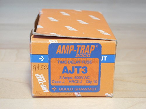 (10) BRAND NEW - BOX OF 10x PCS Gould Shawmut AJT3 Amp-Trap 2000 Time Delay Fuse