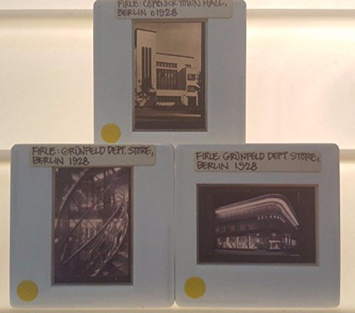 3 FIRLE Architecture 35mm Picture Slides of GRUNFELD DEPT STORE in - Berlin Shop In