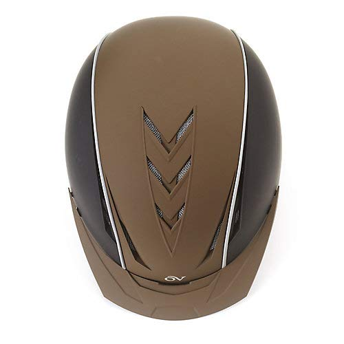 Ovation Unisex Extreme Riding Helmet, Black/Brown, Small/Medium