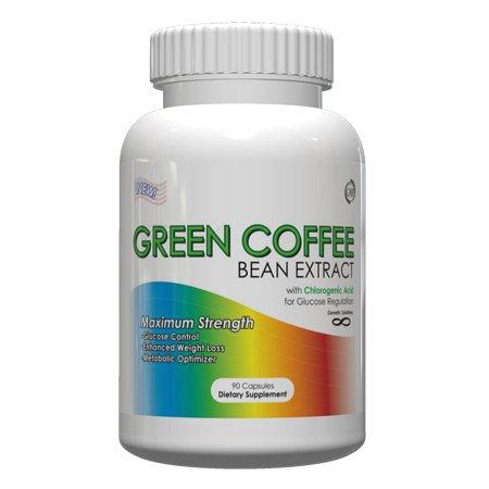 Solutions génétiques extrait de café vert 400mg, 90 capsules de gélatine (Normalisé à 50% acide chlorogénique - 200mg)