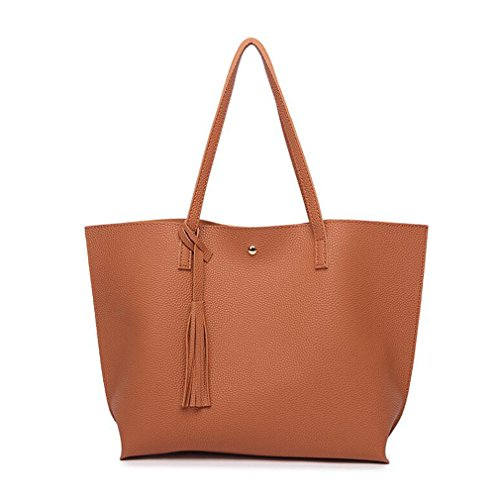 Bag Purses Women Satchel Tote and Handbags Sumerk Bag Shoulder Orange Leather Ladies Tote Bags Casual Tassel for Xq1fv1nHO