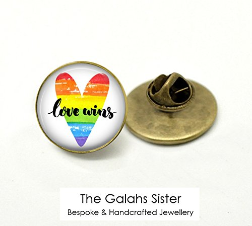 LOVE WINS • Equality • Marriage Equality • LGBT • Human Rights • Gay Rights • Gay Wedding • Pin Badge • Brooch • Lapel Pin • Tie Pin • Gift Under 20 • Made In Australia