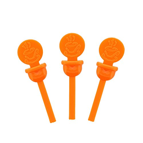 Orange Circles - StixToGo Orange Circle Beverage Plug for Disposable Lids, Package of 400