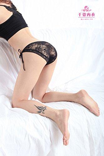 Culotte Femme La fourche ouverte tempérament Sous-vêtements Sous-vêtements sexy et entièrement transparent dentelle femme grande attache Pantalon T Scopie Tentation , Purple