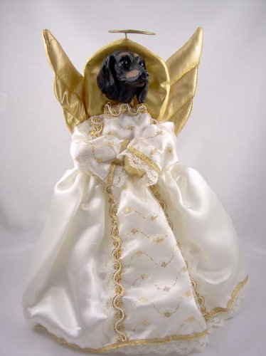 Conversation Concepts Dachshund Black Angel Tree Topper (Angel Dachshund)
