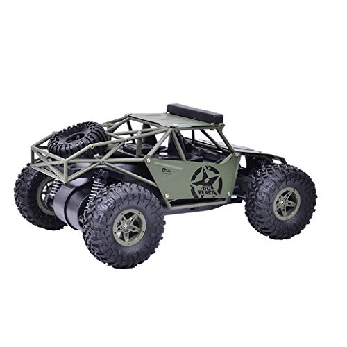 ReallyGO-US Direct RC Car Military Truck Off-Road Climbing Alloy RC Car RTR 2.4Ghz 1/16 Scale 4WD Waterproof Rechargeable All Terrain Remote Control Car (All Terrain Rc Cars Toys R Us)