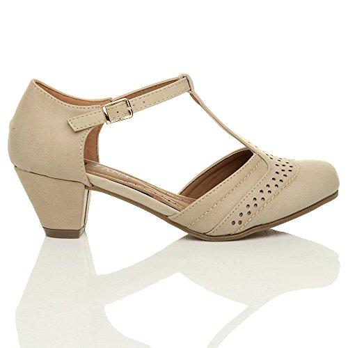 Ajvani T Shoes Out Matte Pumps Heel Women Size Nude Bar Mid Court Cut XTq8XOrRw