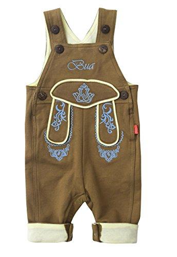 BLH coton de en Pantalon pantalon et en CC longue Stick Hellbraun Blau mogo imitation cuir courte en cuir bébé r8OrPqxp