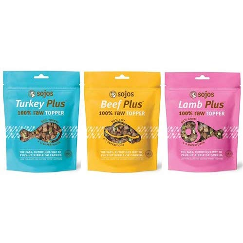 SOJOS Raw Dog Food Topper (Pack of 3 Flavors) by SOJOS