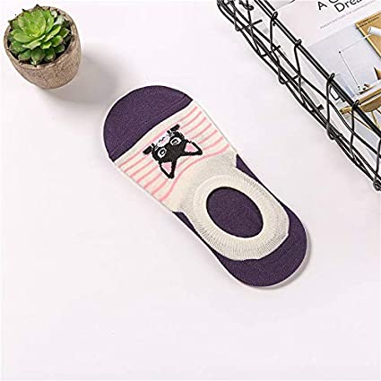 KathShop Cute Harajuku Print cat Socks Women Summer Korean Animal Funny Cute Low Cut Ankle Sock