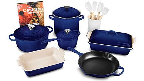 Le Creuset 16-piece Cookware Set (Indigo) - Creuset Rectangular Le Baker