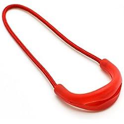 9pcs/pack U Shape Color Zipper Pulls Fits/zipper Fixer For Apparel Accessories (Red)