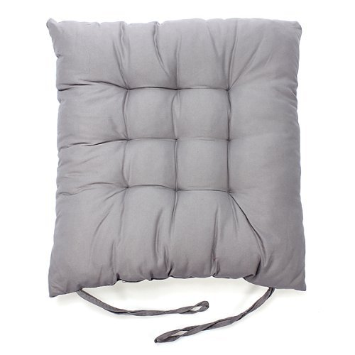 Soft Chair Cushion 100-percent Cotton Chair Pad, Gray(set of 4) by Dis