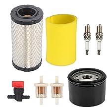 Buckbock 793569 793685 Air Filter/Pre Filter 696854 Oil Filter for Briggs & Stratton Intek Series 20-21 Gross HP John Deere MIU11511 GY21055 LA125 D120 Lawn Mower Tractor